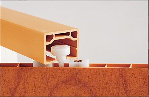 Faltt/ür Schiebet/ür T/ür wei/ß gewischt mit Fenster mit Schloss H/öhe 202 cm Einbaubreite bis 84 cm Doppelwandprofil Neu TOP-Qualit/ät