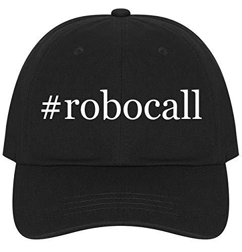 The Town Butler #Robocall - A Nice Comfortable Adjustable Hashtag Dad Hat Cap, Black (Best Robocall Blocker App)