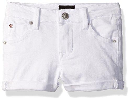 Hudson Big Girls' Collin Short, White, 10