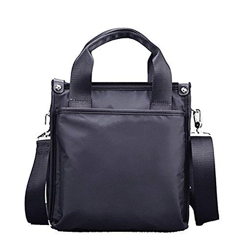 Bolso de hombro de los hombres, Bolso de la lona de Oxford Bolso, Bolso de Crossbody de los hombres de negocios Fyxd (Color : Black S) Black B