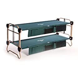 Disc-O-Bed Cam-O-Bunk Cot with2 Organizers