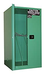 Securall MG306H Medical Gas Cylinder Storage Cabinet - MG Green