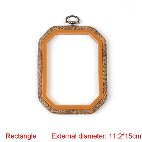 Embroidery Hoop - Durable Art Photo Frame Cross Stitch Hoop Ring Embroidery Circle Sewing Kit Frame Craft (Round, Oval, Rectangle, Octagon)(112cm15cm,Rectangle)