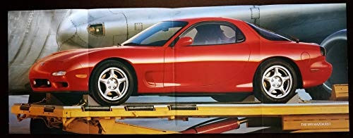 (Magazine Print Ad/Fold-out Poster: Red 1993 Mazda RX-7, Specifications,