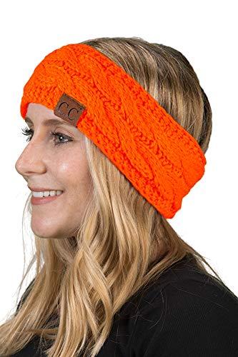 Funky Junque HW-6033-20a-56 Solid Headwrap - Neon Orange