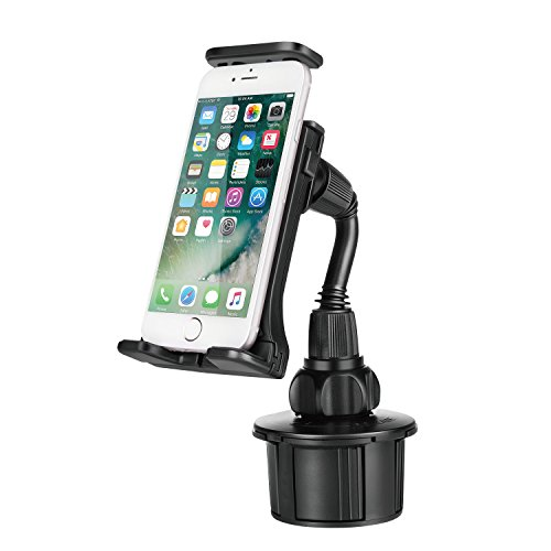 TNP Smartphone Car Mount Holder - Universal Car Cup Cell Phone Grip Clamp w/Flexible Neck Arm For Apple iPhone X 8 8+ 7 7 Plus 6s 6 SE iPad Tablet Android Samsung S9 S9+ Note 8 Galaxy S8/S8+ LG & GPS