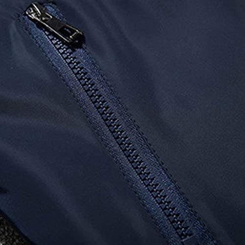 Colorante Blu2 Con Cappotto Collisione Per Da A Esterno Ihaza Collo Giacca Uomo wP7HqxvA