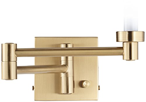Brass Square Sconce - Alta Square Antique Brass Swing Arm Wall Lamp