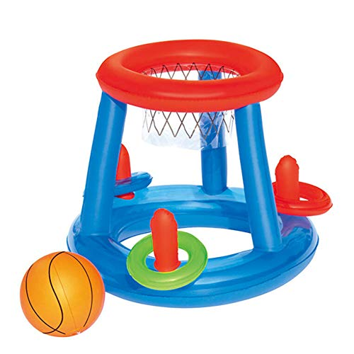 Yugust Floating Hoops Basketball Game,Hoop Pool Float Inflatable Swimming Pool Toy Water Sport Toy Pool Floating Toys Baby Bath Toy for Children