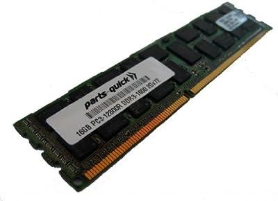 16GB DDR3 Memory Upgrade for HP Compaq ProLiant BL460c Gen8 (G8) PC3-12800 ECC Registered DIMM 240 pin 1600MHz RAM (PARTS-QUICK BRAND)