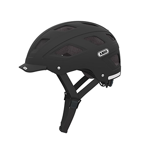 Cicli Bonin Unisex's Abus Hyban With Led Helmets, Velvet Black, One Size