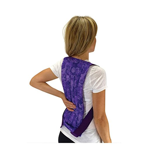 - Spine & Back Herbal Heating Pad - Stress & Tension Relief - Microwavable Hot and Cold Pack by Nature Creation (Purple Flowers)