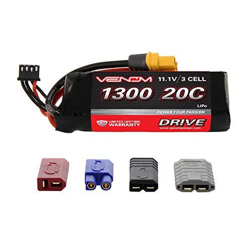 Venom 20C 3S 1300mAh 11.1V LiPo Battery with Universal Plug 2.0 (Traxxas / Deans / EC3)