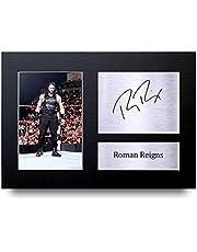 HWC Trading Roman Reigns A4 Sin Marco Regalo De Visualización De Fotos De Impresión De Imagen Impresa Autógrafo Firmado por WWE Fanáticos De La Lucha