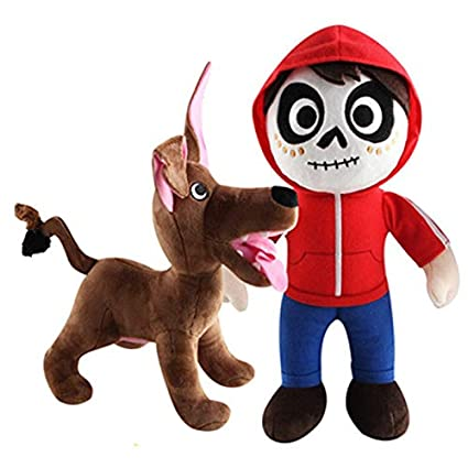 Amazon Com 2pcs Set 20 30 Cm Miguel And Dante Dog From Coco