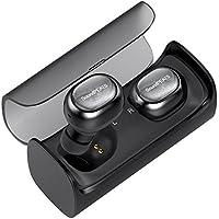 SoundPEATS Wireless Earbuds, True Wireless Stereo Bluetooth 4.1 Headphones Cordless Earphones Sweatproof In-Ear Headset with Mic-Dark Black