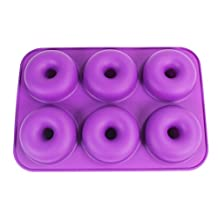 Silicone Baking Pan Donut, KOOTIPS Non-Stick Pan - 6 Full Size Doughnuts Shape - BPA Free Tray, Dishwasher/Microwave/Oven/Freezer Safe - Baking Pans and Molds (6 Full Size Pan) (6 Full Size Pan)