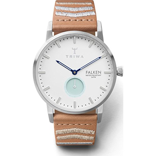 Triwa Wave Falken Watch | Tan Embroidered Classic Strap