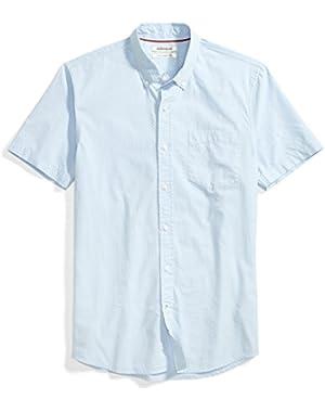 Men's Slim-Fit Short-Sleeve Dot Print Shirt