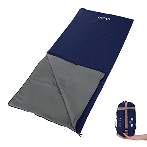 OUTAD Sleeping Bag Ultra-light Weight Sleeping Envelope Linger, Portable Waterproof 3-Season Sleeping Bags for Traveling Hiking & Outdoor (Navy, XL)