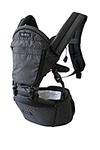 MiaMily HIPSTER+ Child & Baby Carrier, Perfect 360 Backpack Alternative for Hiking with 9 Carrying Positions and Ergonomic Design with Hip Protection for Toddler or Infant (Charcoal Grey)