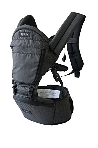 MiaMily Hipster Plus Swiss Brand - Approved by Global Wide Safety Standards - Child & Baby Front Carrier - Protection for Baby & 9 Different Uses - Fits all Sizes - Color Blue
