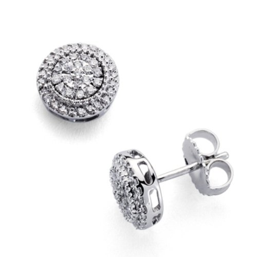 18Kt boucles d'oreilles en or. et diamants 0.31 ct.