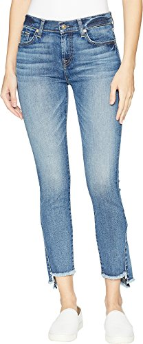7 For All Mankind Women's Skinny Frayed Kick Side in Canyon Ranch Canyon Ranch 29 ()