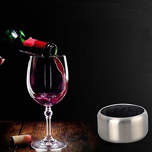 Coeus Edelstahl Wein Flaschen Stopper Kragen Tropfring Stopper Kragen