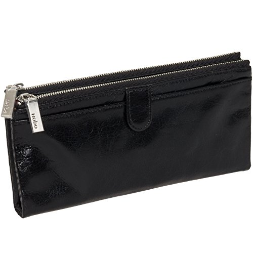 HOBO Womens Leather Vintage Taylor Clutch Wallet (Black) by HOBO