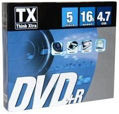 TX Think Xtra DVD + R 4.7 GB – Pack de 5: Amazon.es: Electrónica