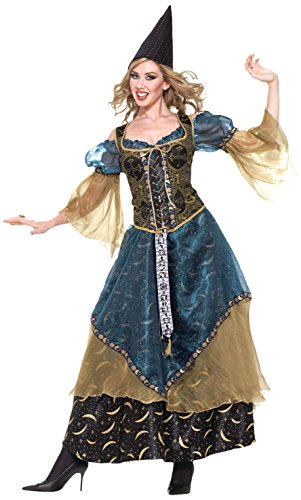 Forum Novelties Women's Designer Collection Deluxe Wizardess Costume, Multi, Medium