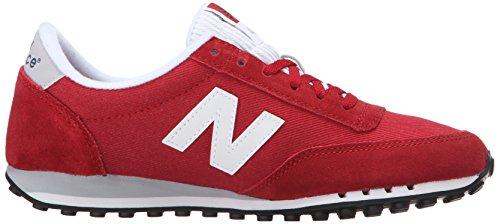 New Balance Womens 410 Prep Pack Lifestyle Sneaker Brick Red/White
