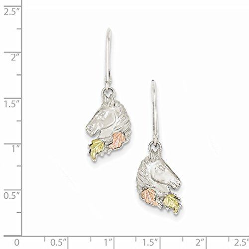 ICE CARATS 925 Sterling Silver 12k Small Horsehead Leverback Earrings Lever Back Drop Dangle Animal Horse Fine Jewelry Ideal Mothers Day Gifts For Mom Women Gift Set From Heart by ICE CARATS (Image #5)