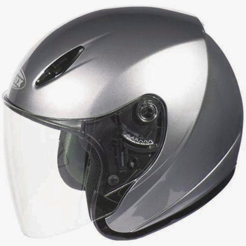 GMAX GM17 Unisex-Adult Open Face Motorcycle/Scooter Street Helmet (Titanium, X-Small)
