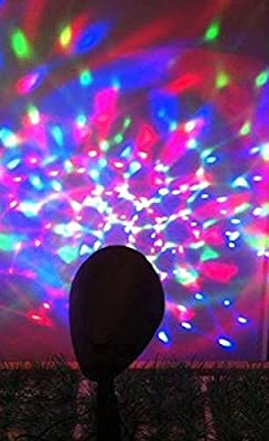 Lightahead® Outdoor Light Show Spot Light Lamp with 3 color LED disco effect with AC adapter..Multi-color Projection Kaleidoscope stake