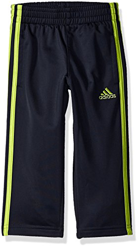 (adidas Toddler Boys' Tricot Pant, Navy Yellow, 2T)