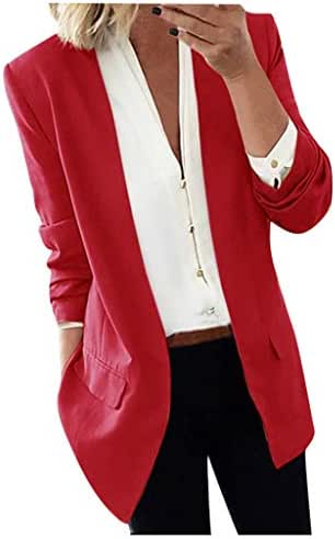 Women Blouses and Tops Fashion for Work Lapel Cape Cloak Long Coat Blazers Ladies Casual Office Suit Outwear