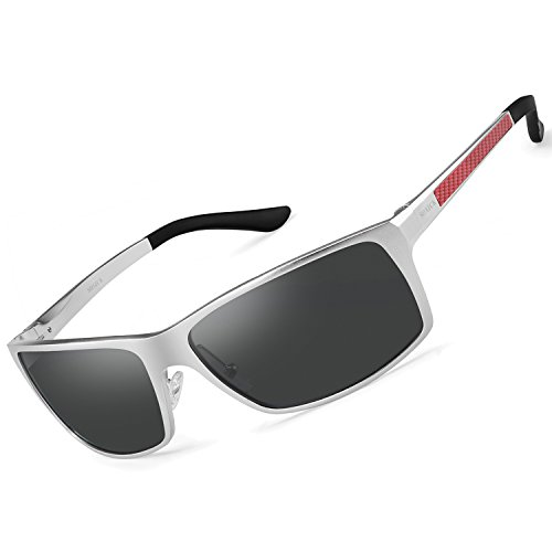 SOXICK Polarized Sunglasses for Men Women, Adjustable Aluminum Metal Frame Driving Sunlasses ()