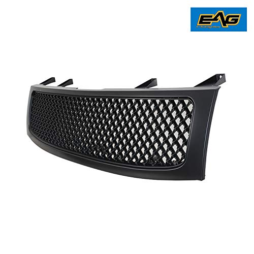 (EAG Replacement Mesh Grille Front Hood Full Grill Fit for 04-12 Nissan Titan/05-07 Nissan Armada)