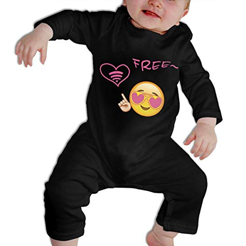 SARA NELL Baby Boys & Girls Bodysuit Emojis WiFi Smile Pictures Copy and Paste Jumpsuit Onesies Long Sleeve