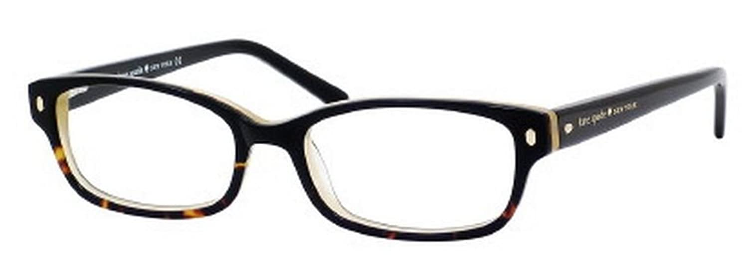 Amazon.com: Kate Spade Lucyann Eyeglasses-0JYY Black Tortoise Fade ...
