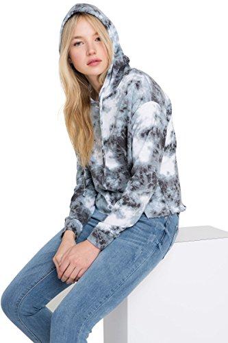 (Ardene Women's - Hoodies & Sweatshirts - Raw Edge Tie-Dye Hoodie Medium -(8A-AP00796))