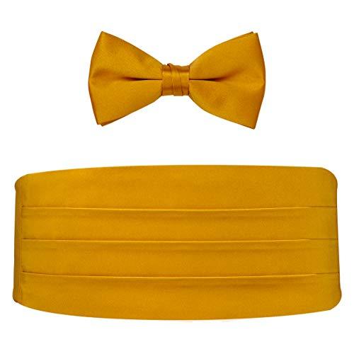 Poly Satin Bow Tie and Cummerbund Set (Gold)