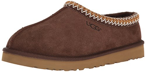 (UGG Australia Men's Tasman Chocolate Suede Slippers - 10 D(M) US)