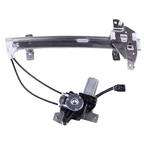 Power Window Lift Regulator on Rear Left Drivers Side with Motor Assembly Replacement for 1997-2005 Buick Century 1997-2004 Buick Regal 1998-2002 Oldsmobile Intrigue ()