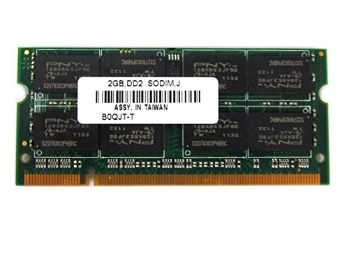 PNY 2GB PC2-5300S DDR2 667MHz SODIMM Notebook Memory RAM B0QJT-T (Pny Ddr2 Laptop Memory)