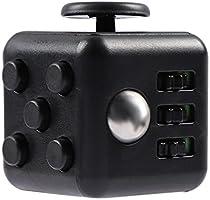 Fidget Cube FG001 Cubo Alivia Estrés, color Negro