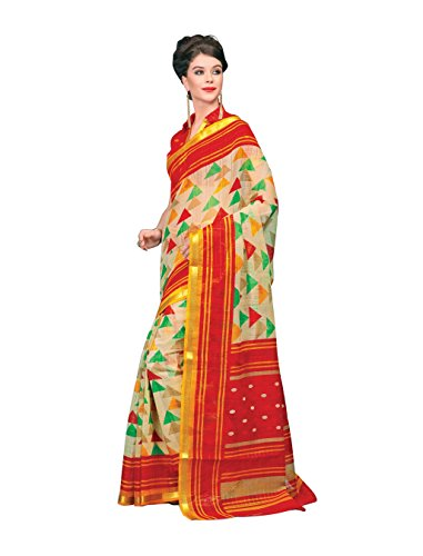 Miraan Chanderi Cotton with Zari Border Saree For Women
