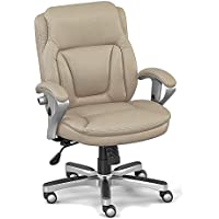Petite Computer Chair with Memory Foam Seat Dimensions: 24.75-26.25W x 25D x 35.25-37.25H Seat Dimensions: 21Wx18Dx18-21H Weight: 53 lbs. Taupe Faux Leather/Champagne Finish